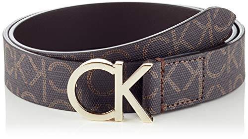 Calvin Klein CK Belt 3cm Cinturón, Marrón (Brown Mono 0hd), 90 (Talla del fabricante: 75) para Mujer