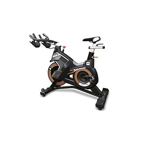 BH Fitness Unisex da Spinning Superduke Bikes, Nero Giallo, Grande