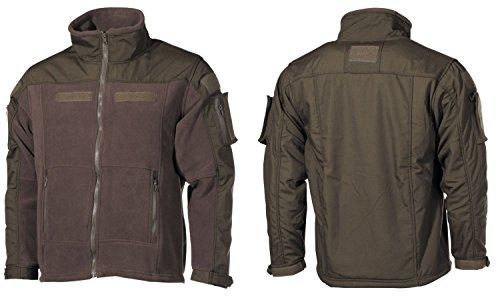Fleece-Jacke, Combat, oliv Größe: L