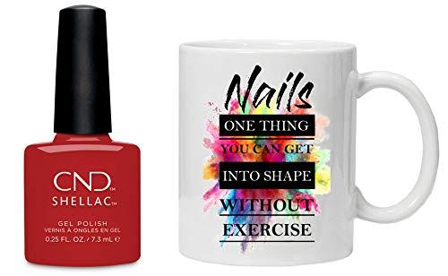 CND Shellac ICONIC COLLECTION 2020 Nagellack Gellack & Tasse und Geschenkbox - COMPANY RED