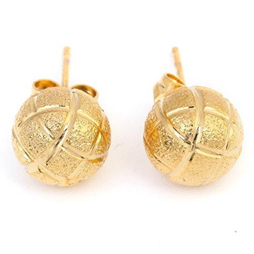 BR Gold Jewelry Ohrstecker Fußball 24 K vergoldet Basketball Schmuck
