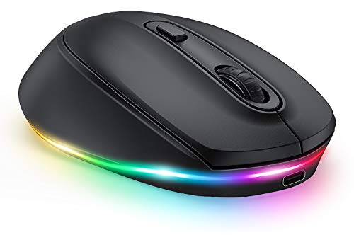 LED Bluetooth Mouse for Laptop, Seenda Rechargeable Silent Wireless...