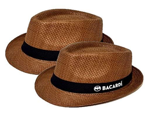 BACARDI Strohhut, Sonnenhut für den nächsten Urlaub, Festival oder Trip zum Strand 2er Pack