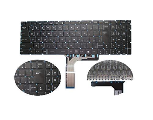 ノートパソコンのNOバックライト付きキーボード 互換 MSI GL62 6QC-041JP 6QC-049JP 6QD-001JP GP72 2QE-033JP CX62 6QL-001JP 日本語 クリスタルキーキャップ