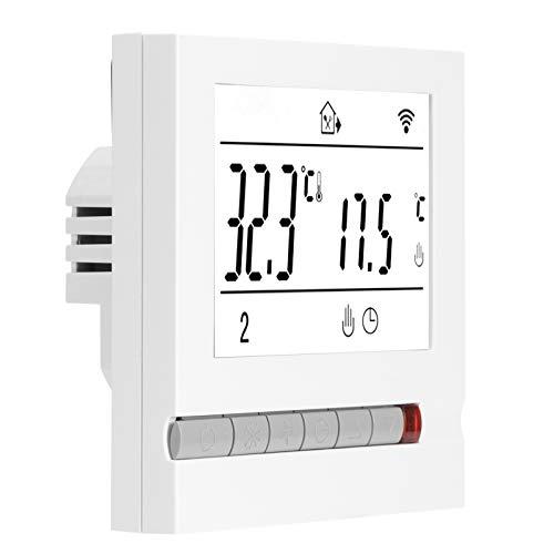 KACA Wi-Fi Smart Thermostat Pulsante LCD App Controllo vocale Regolatore di Temperatura per Smart Home, Bianco, 95-240 V