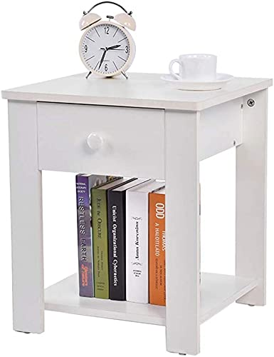 WYL Caja de Almacenamiento en la Cama de Dormitorio con cajones Creativo Deco Mini Cofre de Madera Mesa de café con cajón Duradero
