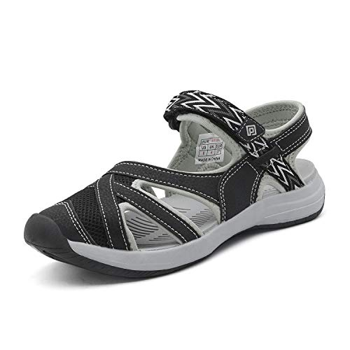 DREAM PAIRS Women's Hiking Sandals Sport Athletic Sandal Black Size 5.5 M US 181103L