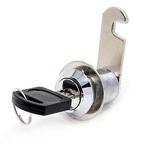 Serrure de sécurité de boîte aux lettres en acier inoxydable 16mm avec clefs assorties , 25mm Drawer lock