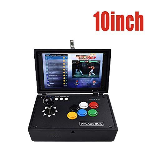 DZSF 10.1Inch Schirm Arcade Spiele-Konsole 3303 in 1 Pandoras Box USB-Joystick Buttons 2 Spieler Control Machine Ps1 Tragbarer