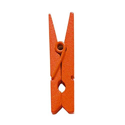 Mini Pinces en Bois. Sachet de 24 - Orange