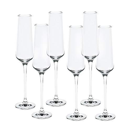 CRISTALICA Sektglas 6er-Set Sektkelch Charisma für Schampus Prosecco Champagner 150 ml klar