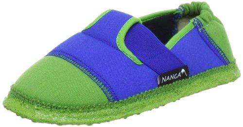 Nanga Kinder - Unisex Kinder-Hausschuhe Klette 06 mittelblau-35 24