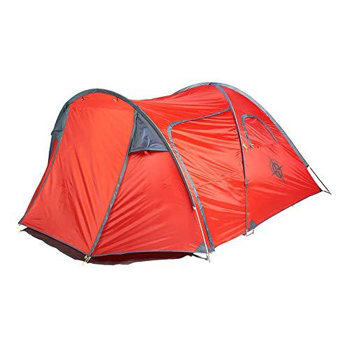 COLUMBUS Tienda de Campaña Enol 3 | Tienda de Camping para 3 Personas con 1 Habitación Grande y Porche. Tienda Iglú con Avance 100% Impermeable, Ligera y Compacta en Color Rojo - 5,8 kg