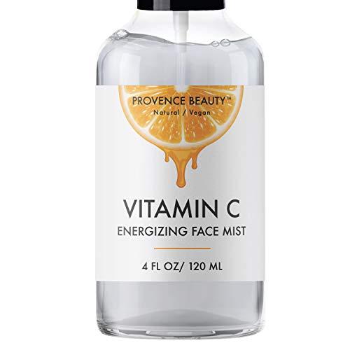 Vitamin-C Face Mist and Setting Spray - Enhanced with Hyaluronic Acid, Aloe Vera and Rose Water - Skin Brightening, Moisturizing, Pore Minimizing - 4 Fl Oz