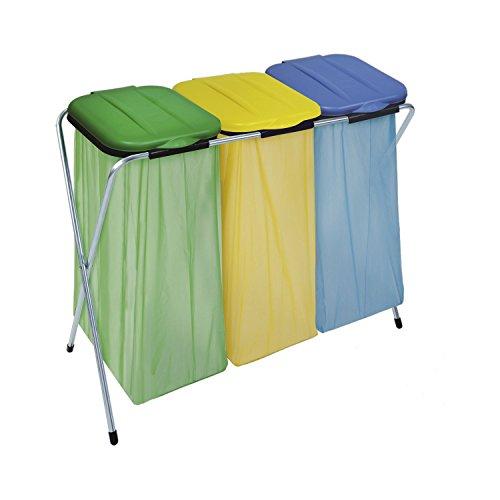 MASTA Müllsackständer Ercofix mit Deckel für 3 Müllsäcke 60-130 L, 1 Stück,900900