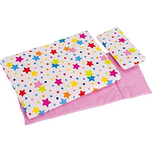 Goki 51564 Bedding Set for Dolls, Stars, Mixed