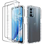 Dzxouui for Oneplus Nord N200 5G Case with 2 Pack Screen Protector, One Plus Nord N200 Case, Crystal Shockproof Bumper Hybrid Clear TPU Protection Cover Phone Case for Oneplus Nord N200 5G(Clear)