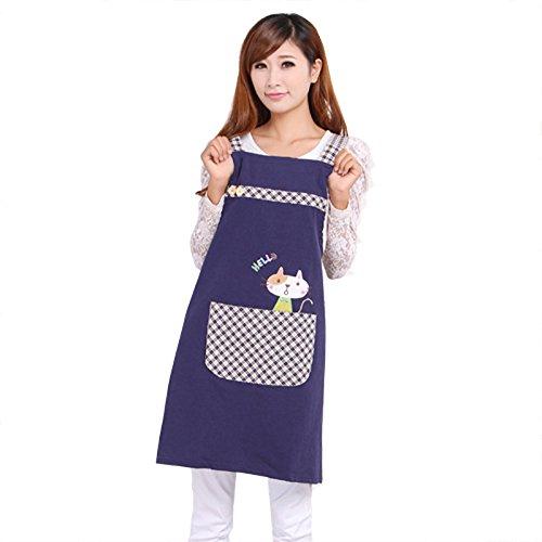 XCWQ Schort Cute Cat Princess Teestube Kinderdagverblijf Schort Dames Werkkleding Katoen Totaal