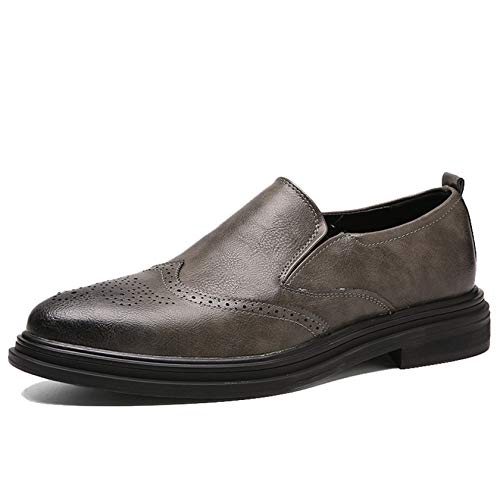 Zapatos Derby para Hombre, Zapatos Brogue de Uniforme Moderno, Zapatos de Vestir...