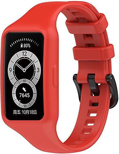 Gransho Bracelete compatível com Huawei Band 6 / Honor Band 6 Bracelete Para Relógio, Bracelete Ajustável de Reposição Bracelete desportiva de Silicone (Pattern 8)