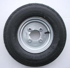 leisure MART 4.80/4.00 x 8 inch trailer wheel and tyre with 4 ply tyre and...