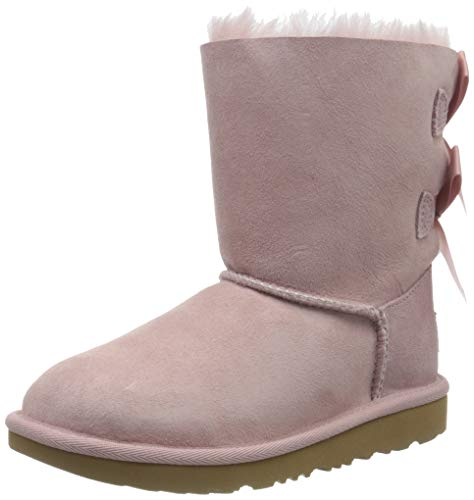UGG Kid's Female Bailey Bow II Classic Boot, Pink Crystal, 11 (UK)