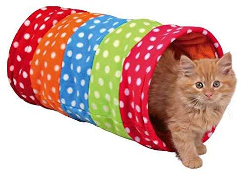 Trixie 4291 Spieltunnel, Fleece, ø 25 × 50 cm, bunt