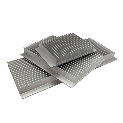 LED-Kühlkörper, extrudiertes Aluminium, 10 cm x 1 m – Maße (B x H): 146 x 22 mm, 200mm (L) x 146mm (W) x 22mm (H), 1
