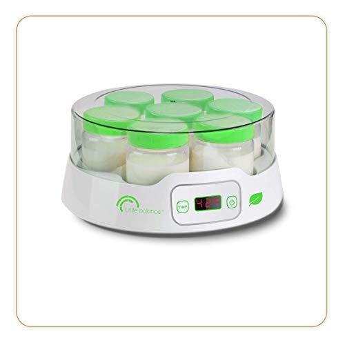Little balance 8316 Yaourtière 7 Digital - Yaourtière - Pour des Yaourts Faits Maison, Desserts Lactés - 14 Pots en Verre 190ml - Timer jusqu'à 14h - Arrêt Automatique