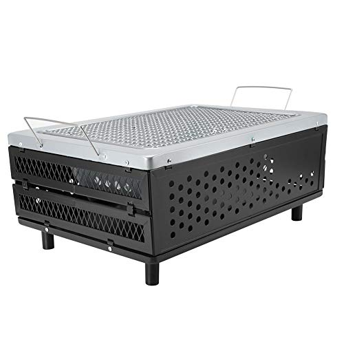 AMONIDA Parrilla eléctrica al Aire Libre, 15.7 * 11.2 * 6.3In Yakitori Charcoal Grill Carbon, BBQ Table Grill Yakitori Fooed Cooked Picnics Home Kitchen for Camping