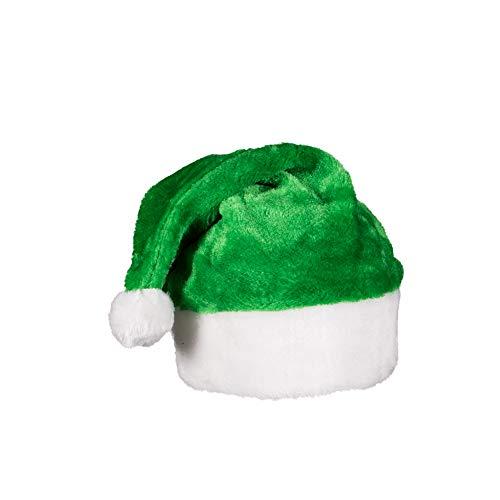 Green Plush Christmas Santa Hat