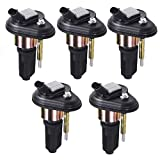 Set of 5 Ignition Coils Pack for Chevrolet Colorado Trailblazer GMC Envoy Buick Rainier Isuzu i-290 i-370 Ascender Oldsmobile