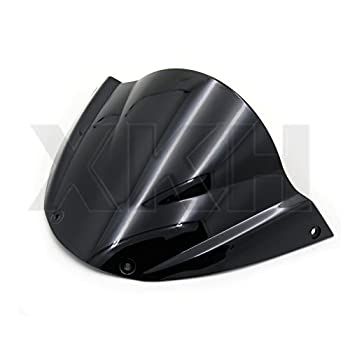 XKH- Windshield WindScreen Compatible with Ducati Monster 696 2008-2014 2009 2010 2011 Black [B074V3P7RQ]