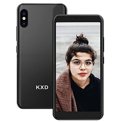 Smartphone Offerta del Giorno KXD 6A Cellulari Offerte 5.5 Pollici 8GB ROM 64GB Espandibili Dual SIM Cellulari Offerte Android Face ID Economici Telefoni Mobile, Nero