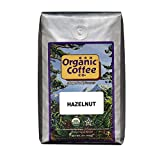 Organic Coffee Co. Hazelnut Whole Bean Coffee 2LB (32 Ounce) Flavored Medium-Light Roast USDA Organic