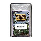 The Organic Coffee Co. Hazelnut Whole Bean Coffee 2LB (32 Ounce) Flavored Medium-Light Roast USDA Organic