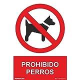 RD41033 - Señal Prohibido Perros PVC Glasspack 0,7 mm 30x40 cm con CTE, RIPCI Nueva Legislación
