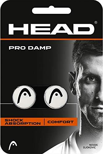 HEAD Unisex– Erwachsene Schlägerzubehör Pro Damp 2er Tennis Dämpfer, white, One Size