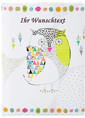 goldbuch Freundebuch A5 Mosaic Owl mit Ihrem Wunschtext