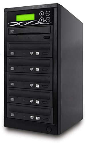 Bestduplicator DVD Duplicator Built-in BD Certified Burner (1 to 5 Target) Copier Tower Replication Recorder + Free Nero Multimedia Suite 10 Essentials CD/DVD Burner Software