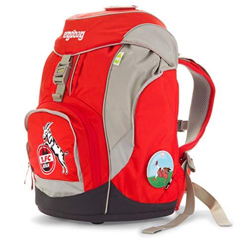 Preisvergleich Produktbild Ergobag Pack 1. FC Köln AufsteigBär - Weiß,  ergonomischer Schulrucksack,  Set 6-teilig,  20 Liter,  1.100 g,  Weiß
