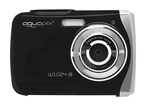 """Easypix Aquapix W1024 - Cámara compacta Digital (10 MP, 2.4"""", Zoom Digital 4X, VGA), Color Negro"""