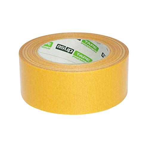 ASUP TAPE PREMIUM - Gewebeklebeband - 48 mm x 50 m - gelb | für Innen- und Außenanwendung | für glatte und raue Oberflächen | von Hand reißbar | feuchtigkeitsbeständig