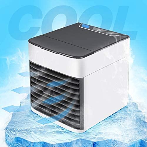 USB Mini aire acondicionado portátil refrigerador de aire humidificador purificador luz LED ventilador espacio personal ventilador refrigeración aire