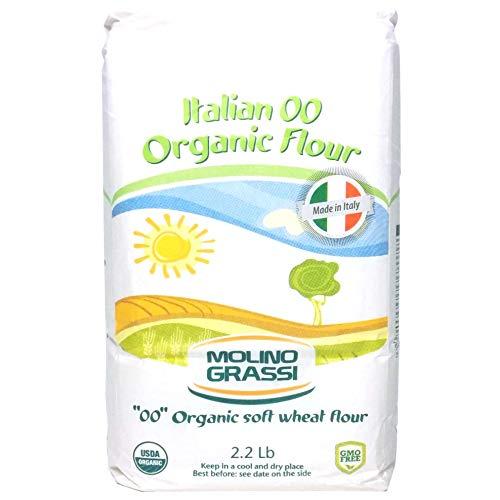 Molino Grassi USDA Organic Italian '00' Soft Wheat Flour - 2.2 lb (2 Pack)