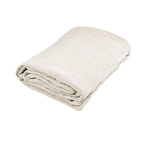 Nielsen Wohndecke Plaid Avivo, 150x200 cm, Weiß (Weiss), Baumwolle, gemütliche Decke grob gewebt, Decke, Couchdecke, Sofadecke, Schlafdecke, Tagesdecke, Kuscheldecke