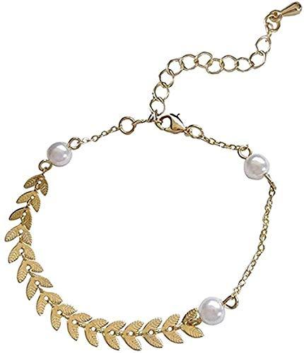 WSBDZYR Co.,ltd Collar Pulsera de Perlas de Espiga de Trigo Pulsera Simple de Verano Uso Diario Temperamento Pulsera de Miel Regalo para Estudiantes Moda