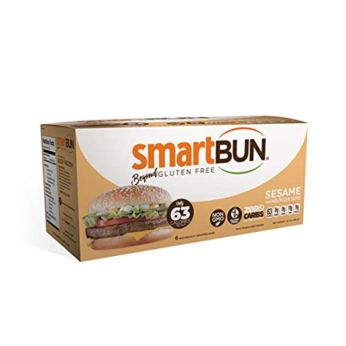 Smart Baking Company Smartbuns, Gluten Free, Sugar Free and Carb Free Buns (Sesame, Singles)