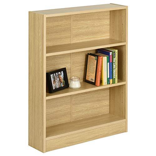 Hartleys Oak 3 Tier Bookcase