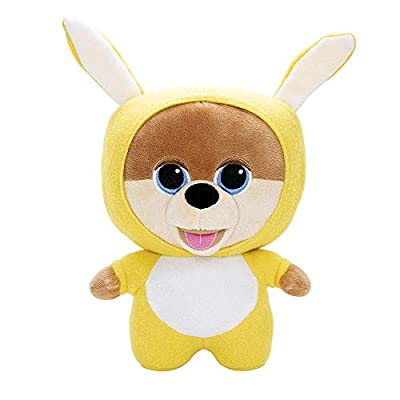 "JiffPom CuteLife Collectable Plush Toy | Snuggly Bunny Edition | Collect All 4 JiffPom CuteLife Plushies | Stuffed Kids Toy | Super Soft | 10"" tall 